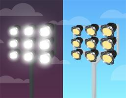 Helle Stadionbeleuchtung