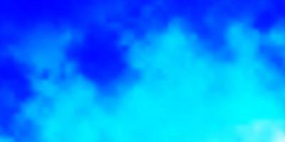 ljusblå vektor mönster med moln.