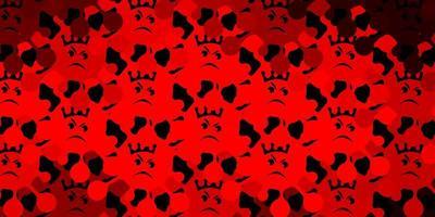 dunkelorange Vektorschablone mit Grippezeichen.