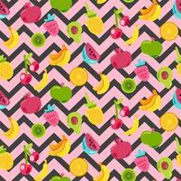 målade bär sommarfrukter blandar sömlösa mönster vektor