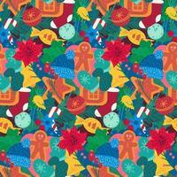 Neujahrsferienartikel färben nahtloses Muster vektor