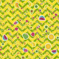 sommar frukt vektor sömlösa mönster