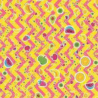 tropiska frukter, bär vektor sömlösa mönster