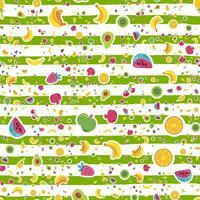 frische sommerliche saftige Frucht gemalt nahtloses Muster vektor