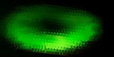 abstrakte Dreiecksschablone des dunkelgrünen, gelben Vektors. vektor