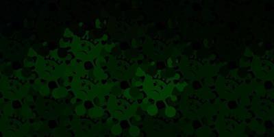 dunkelgrüne Vektorschablone mit Grippezeichen. vektor