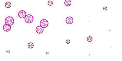 hellrosa Vektorbeschaffenheit mit Religionssymbolen. vektor
