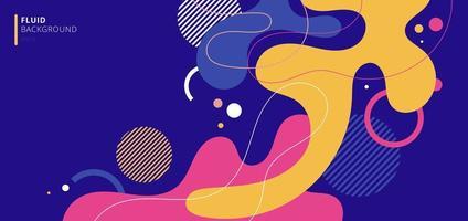 abstrakte moderne Hintergrundelemente dynamische fließende Formen vektor