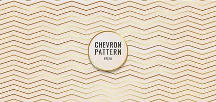 abstrakter Hintergrund Chevron-Muster Goldmetallic. vektor