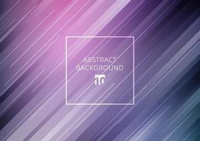 abstrakte Streifen diagonale geometrische Linien Muster Technologie Konzept auf lila Farbverlauf Hintergrund.