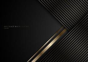 abstrakta ränder gyllene linjer på svart bakgrund vektor