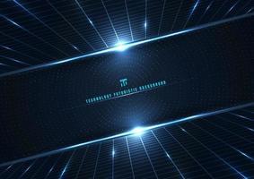 abstrakte Technologie futuristische digitale Konzept Perspektive Raster vektor