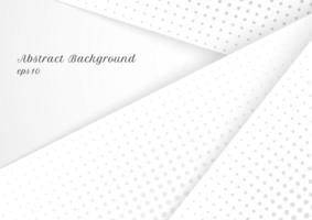 abstrakt modern halvton grå och vit design vektor
