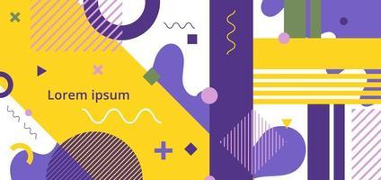 abstrakter minimaler geometrischer Muster-Memphis-Stil