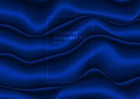 abstrakt blå tyg vik silke textur satin sammet material eller flytande våg form bakgrund lyx stil vektor