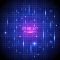 abstrakt teknik futuristiskt glödlinje rutnät vektor