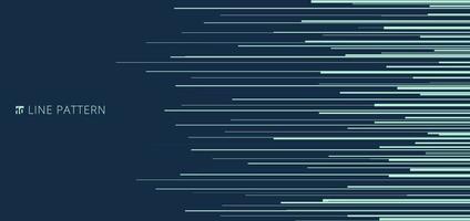 abstraktes hellgrünes horizontales Geschwindigkeitslinienmuster auf blauem Hintergrund und Textur. vektor