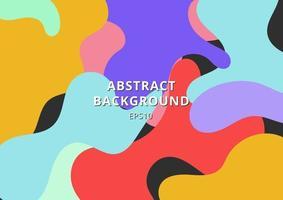 abstrakt färgrik fri form form bakgrund. vätska bildar levande färg. vektor