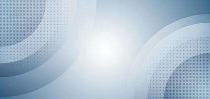abstrakte hellblaue Kreise, die mit Halbton auf weißem Hintergrund überlappen. vektor