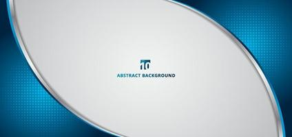 abstrakt banner webb mall 3d dimention blå kurva vektor