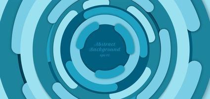 banner webb mall abstrakt bakgrund blå cirkel gräns
