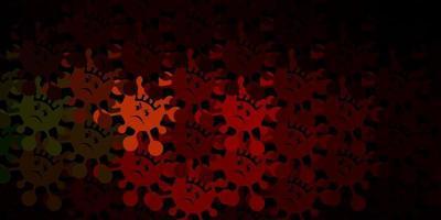 dunkelgrüne, rote Vektorschablone mit Grippezeichen.