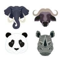 wilde Tiere Charaktere Headset vektor