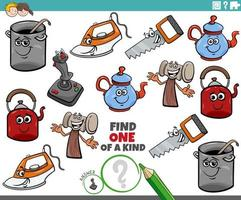 Eine einzigartige Aufgabe für Kinder mit Comicobjekt vektor