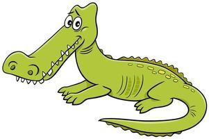 Krokodil-Wildtiercharakter-Karikaturillustration vektor