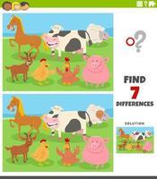 skillnader pedagogiskt spel med husdjur vektor