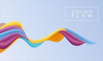 levande färgflöde med bakgrundsaffisch för rektangelram vektor