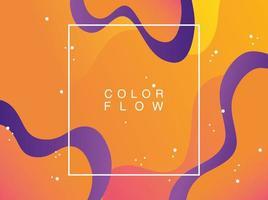 Farbfluss mit quadratischem Rahmenhintergrund vektor