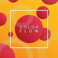 lebendiger Farbfluss mit quadratischer Rahmenhintergrundschablone