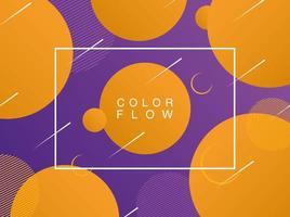 lebendiger Farbfluss mit Hintergrundplakatschablone des Rechteckrahmens vektor
