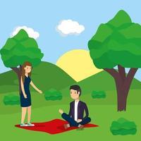 Paar macht Aktivitäten im Freien