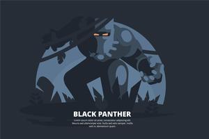 Schwarzer Panther-Illustration vektor