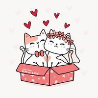 bröllop av ett kattpar vektor