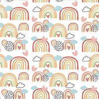 färgglada regnbågar i höstfärger sömlös bakgrund vektor