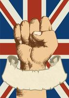 anda av en nation Storbritannien näve design