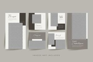 minimalistisk social media mall premium vektor