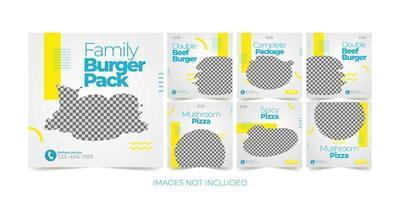 Fast-Food-Banner für Social-Media-Werbevorlage gesetzt