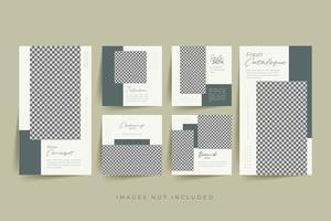 minimalistischer Social Media Template Premium Vektor