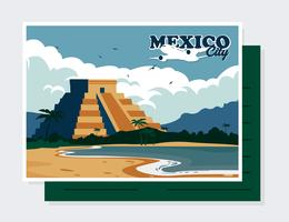 Mexiko Postkarte Vektor