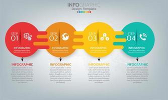 Infografik-Elemente der Geschäftszeitleiste mit 5 Abschnitten oder Schritten vektor