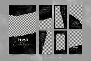 mode banners för sociala medier reklam mall set