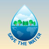 Weltwassertag Illustration vektor