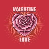 Valentinstag Liebe Blume Illustration Vektor
