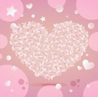 Alla hjärtans dag gratulationskort vektor mall