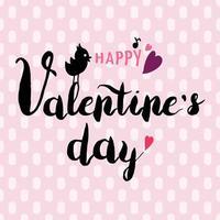 glad Alla hjärtans dag handritad svart kalligrafi vektor