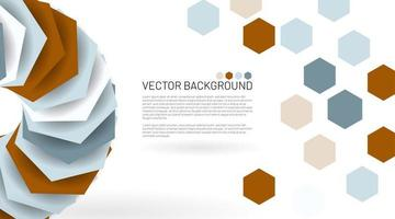moderner abstrakter Sechseckvektorhintergrund vektor